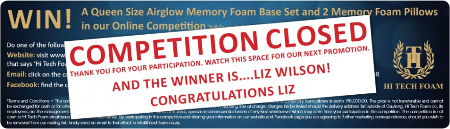 HTF_Memory Foam Competition Winner